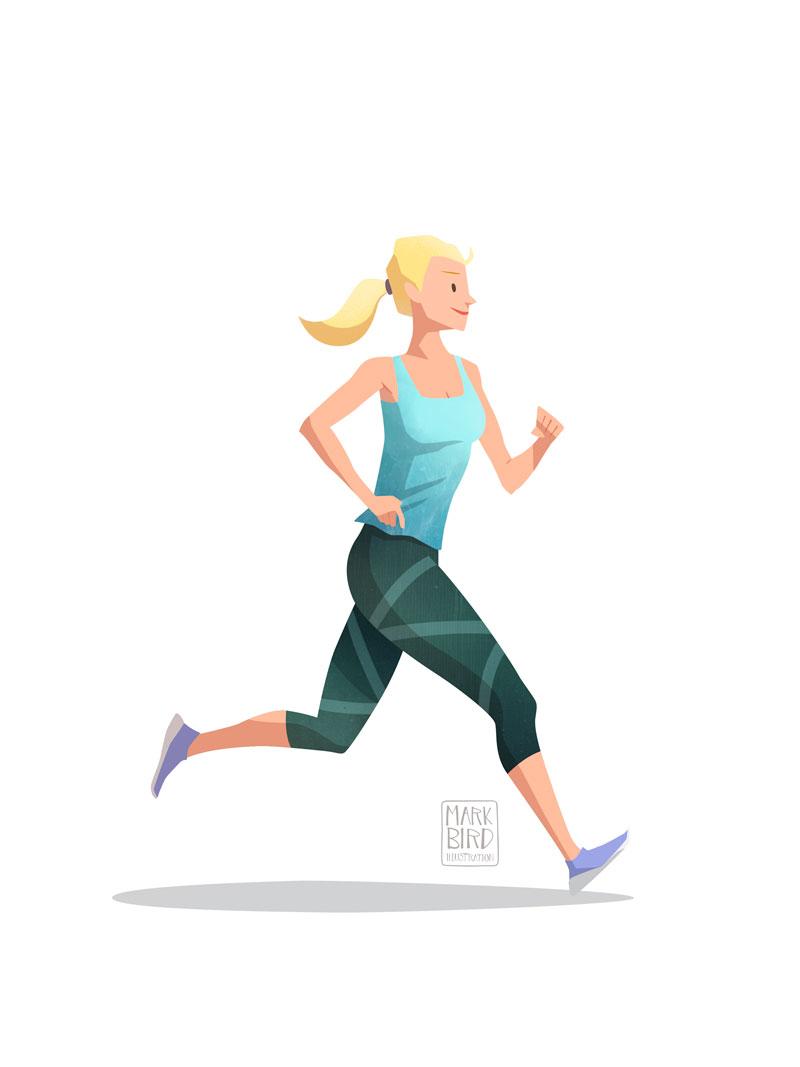 Running - Editorial Illustration
