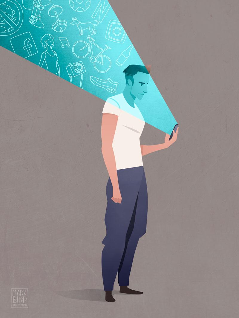 Social Profiling - Editorial Illustration