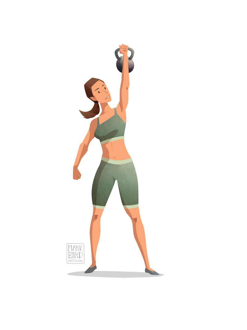 Weight Training - Editorial Illustration