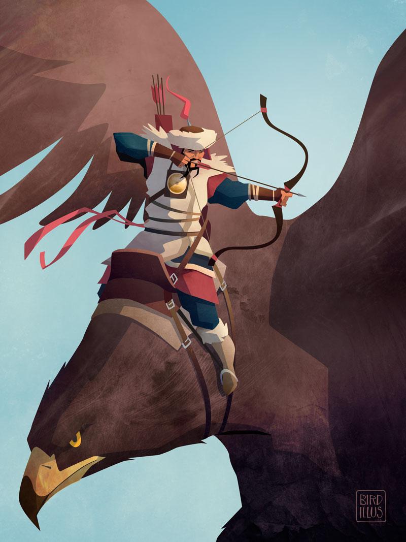 Mongolian Eagle Hunter - Character Design Challenge