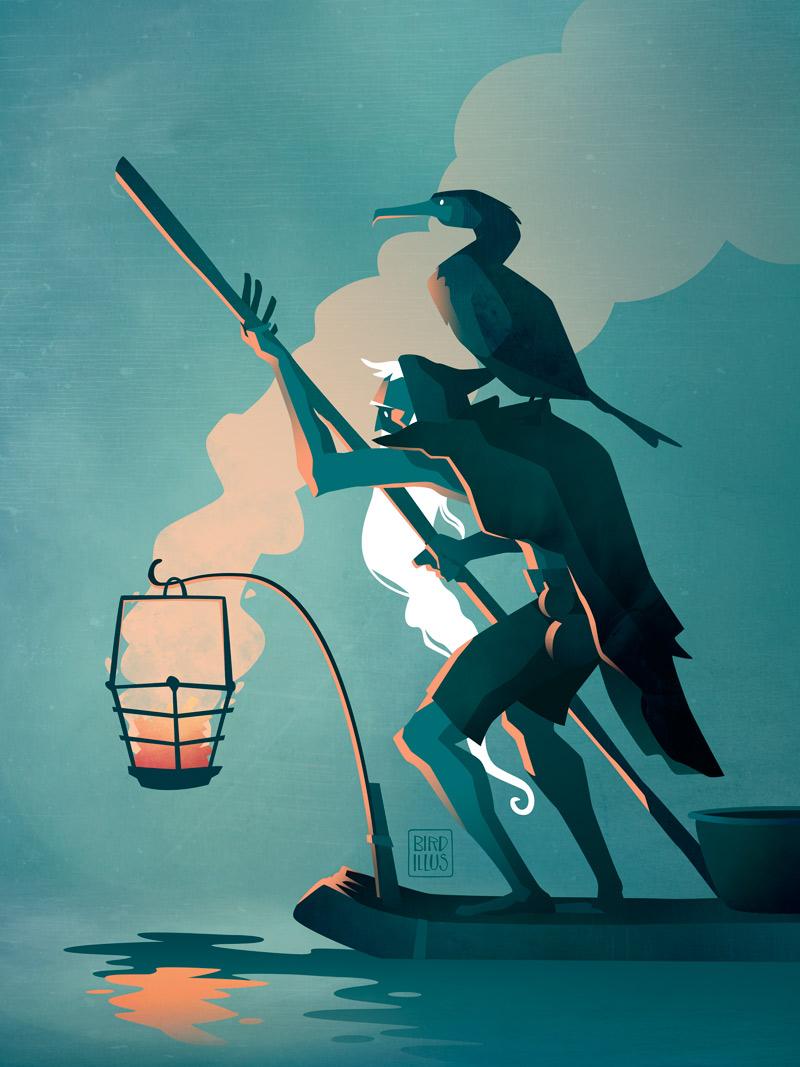 Cormorant Fisherman - Character Design Challenge