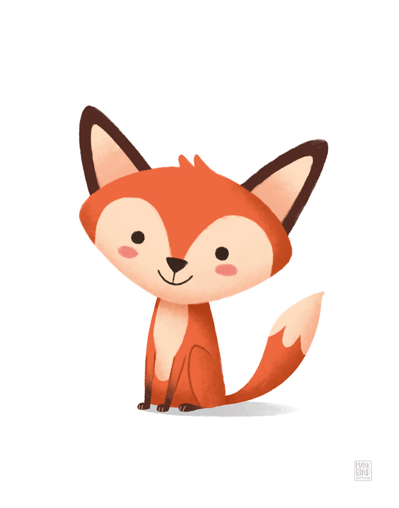 Little Fox - Children's Print Illustration