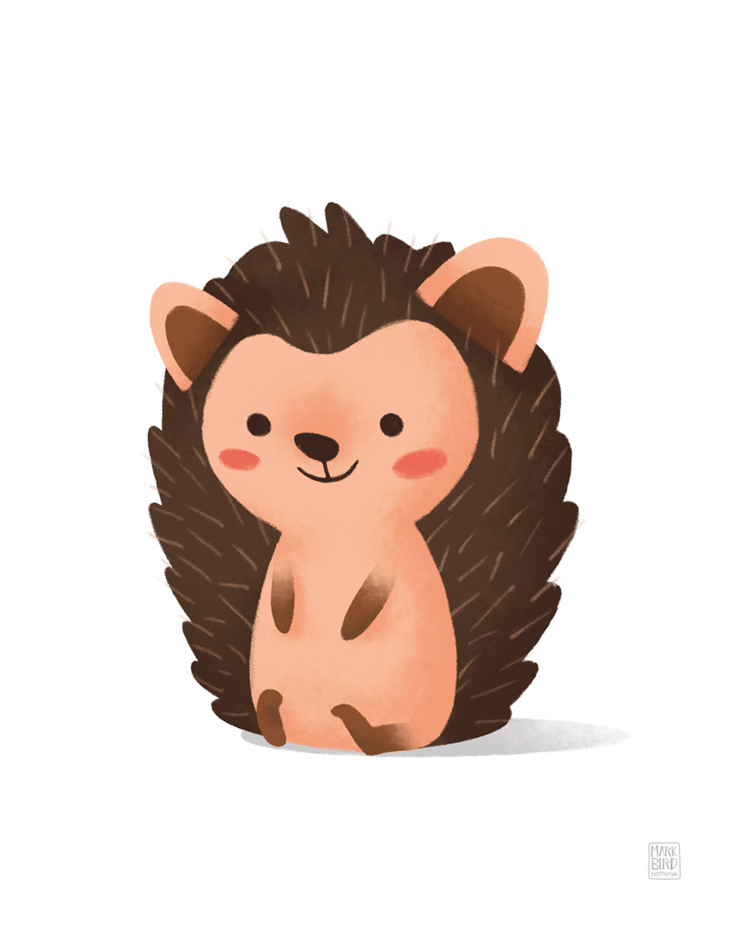 Little Hedgehog - Children's Print Illustration