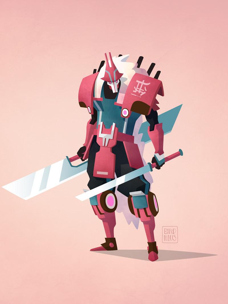 Mech Samurai - Character Design