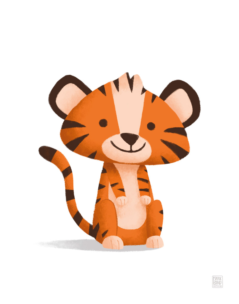 Little Tiger - Children's Print Illustration