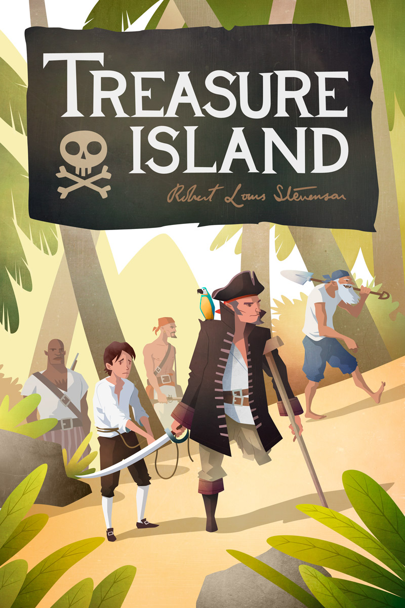Treasure Island - Children's Book Cover