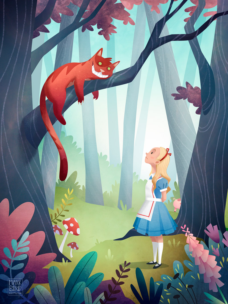 Alice In Wonderland - Children's Book Illustration