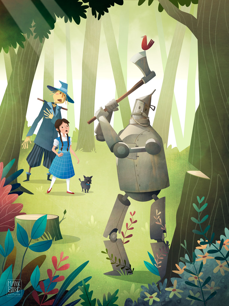 The Wizard Of Oz - Children's Book Illustration