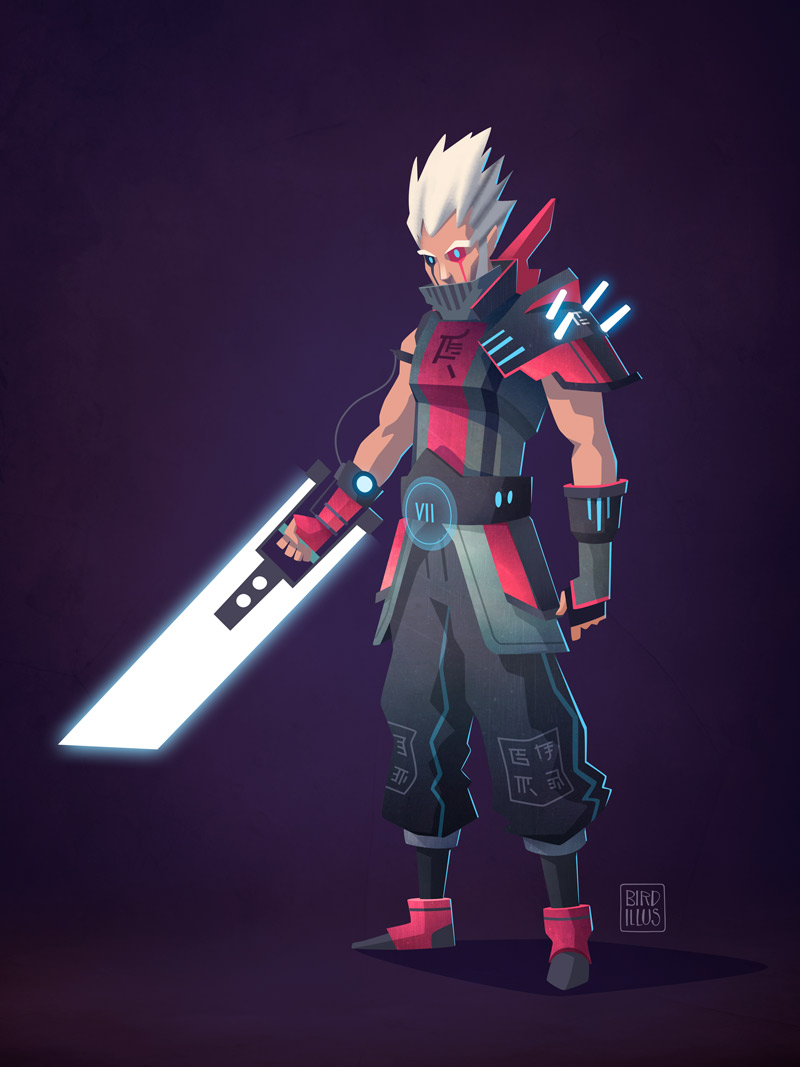 FF7 Cloud Strife - Character Design Challenge